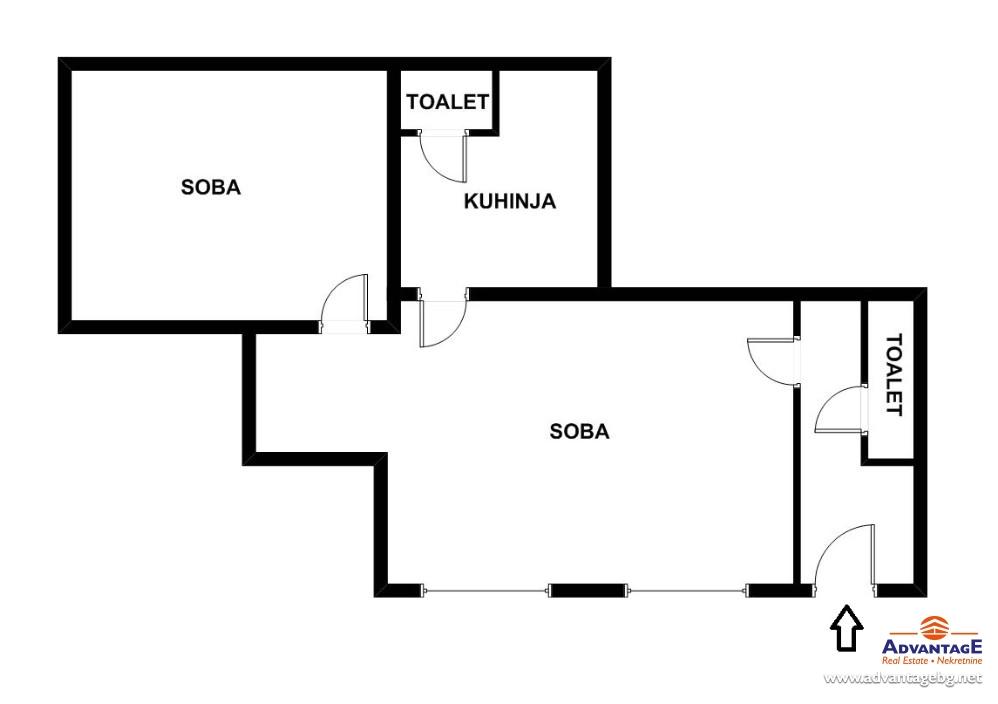 Poslovni prostor 55m² Vračar